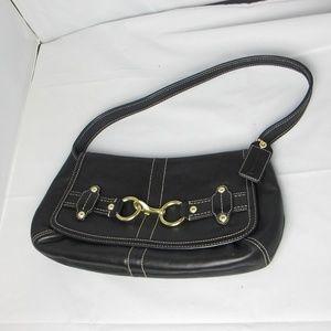 COACH 11263 Ergo Hobo Black Leather Handbag